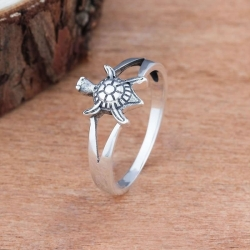 Sea Turtle Silver Ring