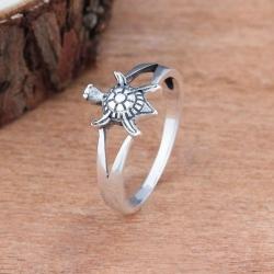 Sea Turtle Silver Ring