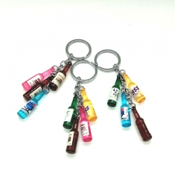 Stylish Bottle  Key chain - 3 Key rings