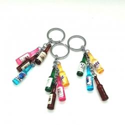 Stylish Bottle  Key chain - 3 Key rings