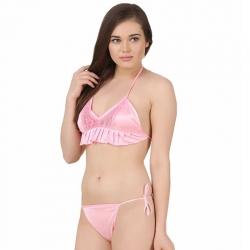 Halter Neck Bikini Bra & Panty Set
