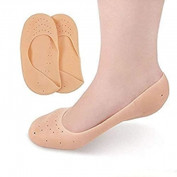 Silicone Gel Anti Crack Full Length Foot Protector Socks Pain Relief