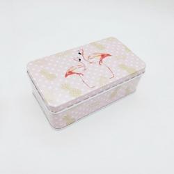 Cute Metal Mini Tin Storage Square Box