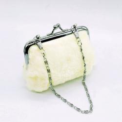 Fashion Cute Rabbit Fur Clutch Wallet 4.5 inch